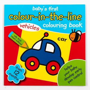 Baby's First Colour-In-The-Line Vehicles