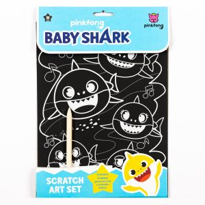 Baby Shark Scratch Art Set