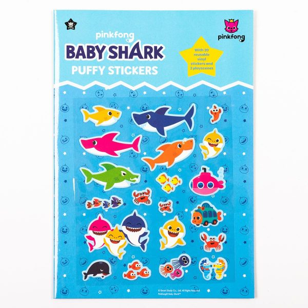 Baby Shark Puffy Sticker Set