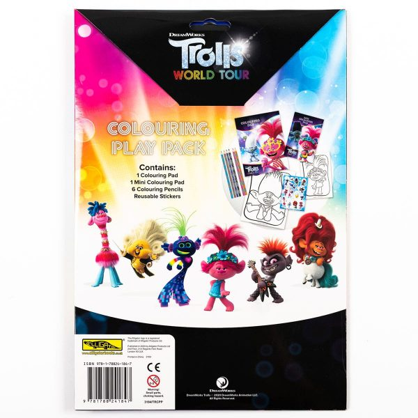 Trolls World Tour Colouring Play Pack