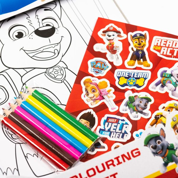 Paw Patrol Colouring Set