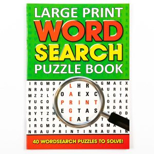 Large Print Wordsearch Book - Green