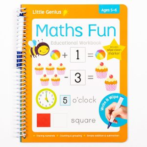 Write & Wipe Maths Fun Workbook