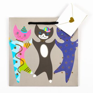 Party Cats Gift Bag - Medium *sold as a set*