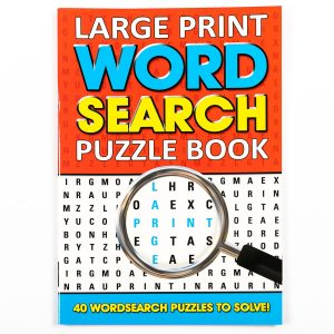 Large Print Wordsearch Book - Red