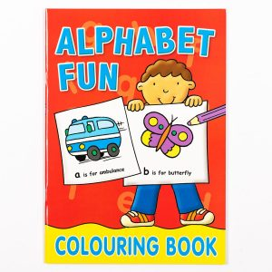 Alphabet Fun Early Learning Colouring Book Red