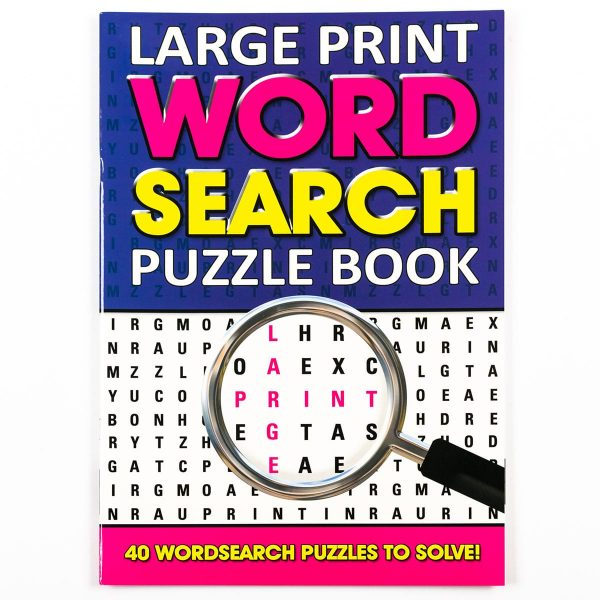 Large Print Wordsearch Book - Purple